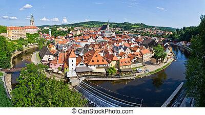 (,  krumlov,  list),  cesky, herança,  Cityscape,  UNESCO