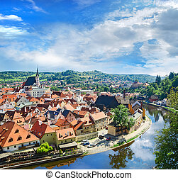 Krumlov town from castle , Czech - CESKY KRUMLOV, CZECH ...