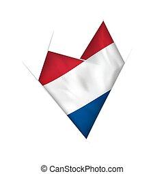 krumm, herz, fahne, niederlande, sketched