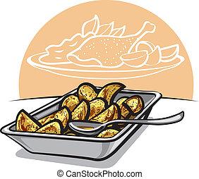 krumpli, pörkölt