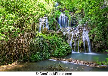 Krushuna waterfalls in bulgaria
