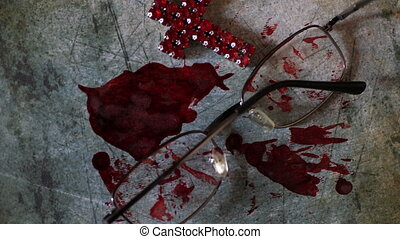 krwawy, jezus, grunge, krzyż, do góry, tło, zamknięcie