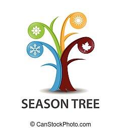 kryddar, vektor, träd, illustration