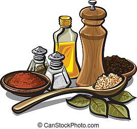 krydderier, og, flavoring