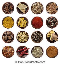 kryddor, kollektion, xxxl