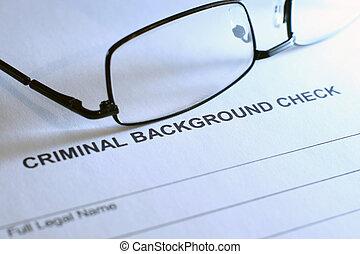 kryminalny, czek, tło