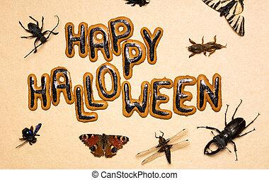 kryp, hemsökt av spöken, halloween, dag, bakgrund