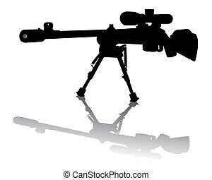 krypskytt, gevär