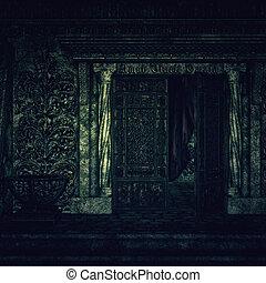 krypta, kyrkogård