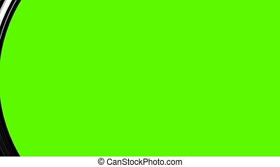 krypta, odwrotny, w, greenscreen