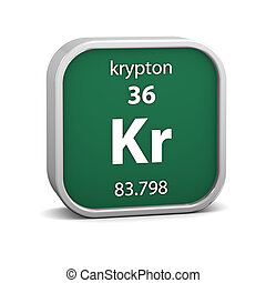 Krypton material sign