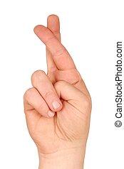 kryssa fingrar