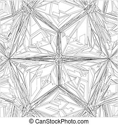 krystal, geometriske, diamant mønster