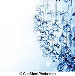 krystal, lysekrone, moderne