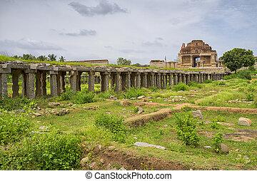 kryszna, karnataka, hampi, indie, stan, świątynia