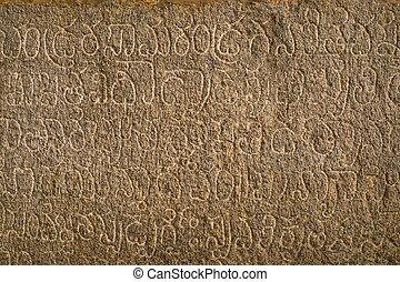 kryszna, starożytny, karnataka, język, hampi, indie, stan, pisemny, świątynia