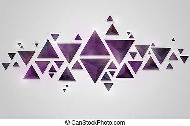 kryształ, abstrakcyjny, geometryczny, tło