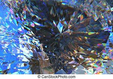 kryształ, abstrakcyjny