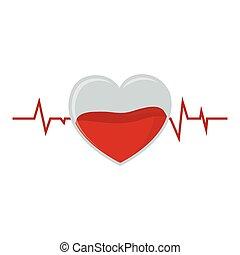 kryształ, darowizna, krew, puls, serce