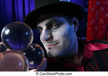 kryształ, magik, piłki