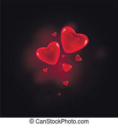 kryształ, serce
