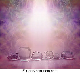 kryształy, magenta, gojenie