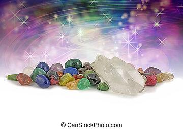 kryształy, magiczny, gojenie