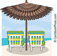 krzesła, plaża