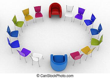 krzesła, szef, arm-chairs, dwa