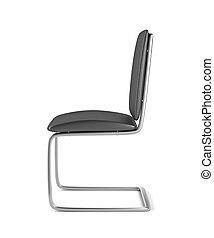 krzesło, jadalny, skóra, prospekt, bok