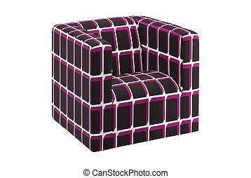 krzesło, nowoczesny, odizolowany, biały
