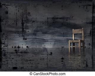 krzesło, samotny
