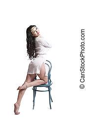 krzesło, wzór, fason, posiedzenie