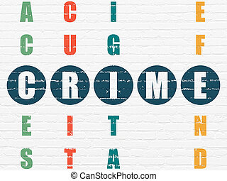 krzyżówkowa zagadka, bezpieczeństwo, concept:, zbrodnia