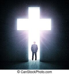 krzyż, świetlany