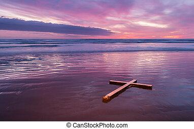 krzyż, czyszcząc