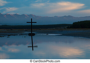 krzyż, krajobraz