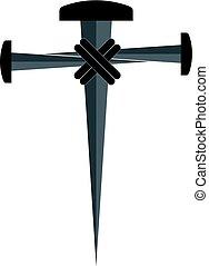 krzyż, od, paznokcie