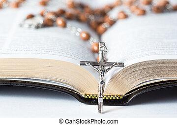 krzyż, od, różańcowa perełka, spoczynek, znowu
