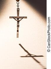 krzyż, odlew cień