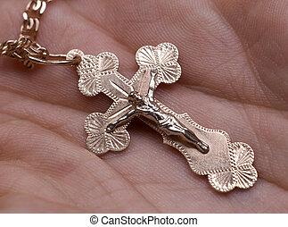 krzyż, ręka
