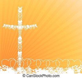 krzyż, tło