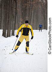krzyż-wersalski sport narciarski, człowiek