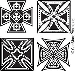 krzyże, żelazo
