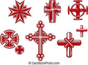 krzyże, religijny