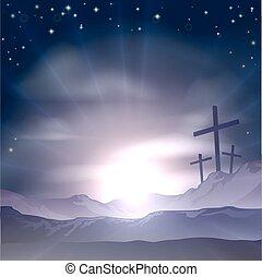 krzyże, wielkanoc