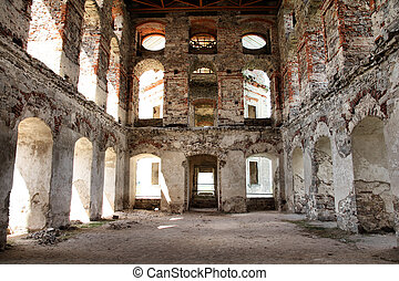 Krzyztopor castle in Poland. Ruined building - old landmark.