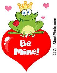 książę żaby, na, niejaki, czerwone serce