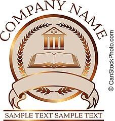 książka, albo, kolumnada, znak, -, złoty, prawnik, prawo