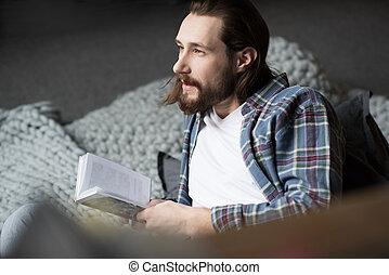 książka, dzierżawa, człowiek